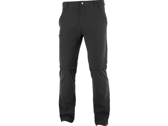 Salomon Wayfarer Zip Off Pants Men, black